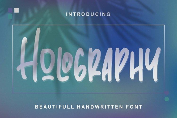 Web Font Holography - Beautifull Handwritten Font example image 1