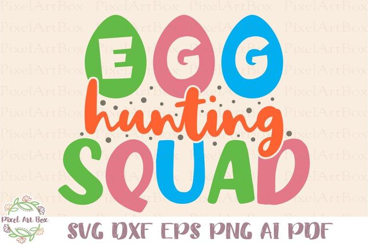 Egg Hunting Squad SVG Cut File