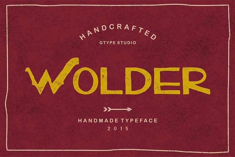 Wolder Typeface example image 1