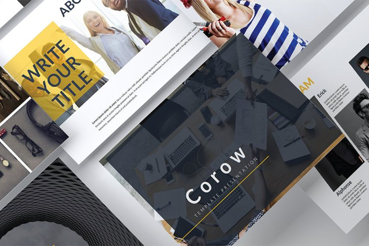 Corow Powerpoint Template example image 1