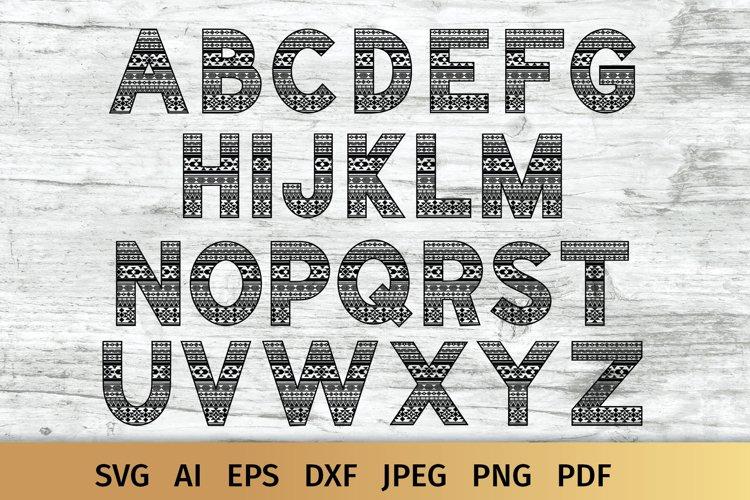 Aztec Alphabet SVG | Alphabet Letters SVG example image 1
