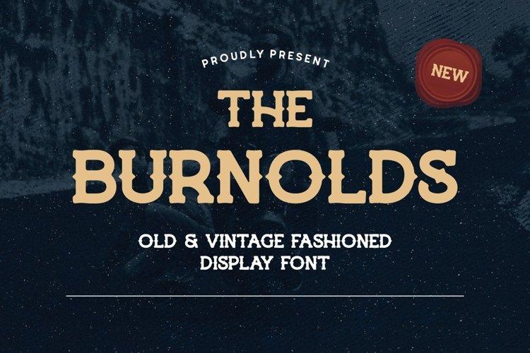 Burnolds - Vintage Fashioned Display Font example image 1