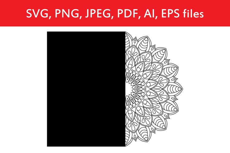 Card with mandala template example image 1