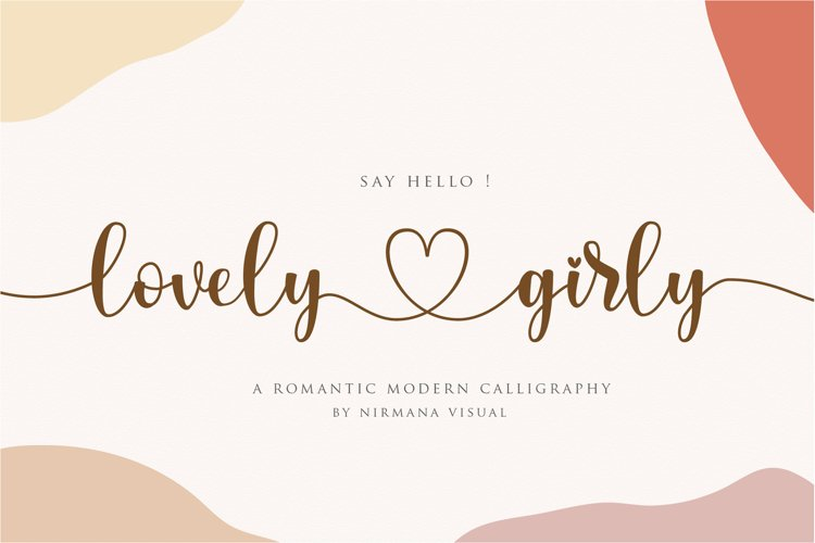 lovelygirly - romantic modern calligraphy example image 1
