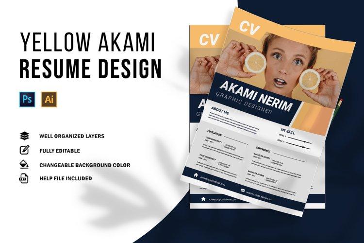 Yellow Akami | CV & Resume example image 1