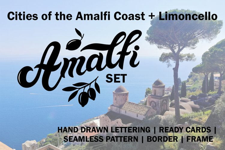 Amalfi Set. Amalfi Coast. Italy example image 1