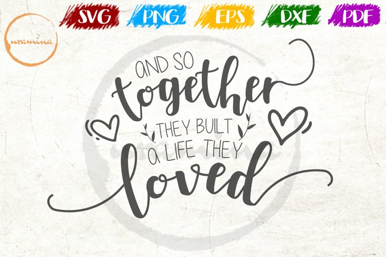 And So Together Love Couple Anniversary Quote Art example image 1