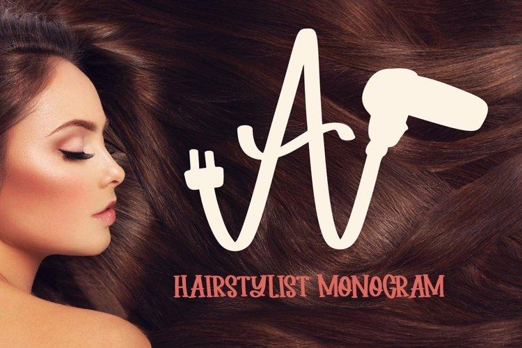 Web Font Hairdresser - Hair stylist - Monogram Font example image 1