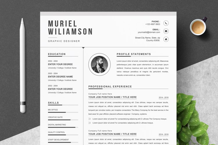 Cover Letter and Resume Template example image 1