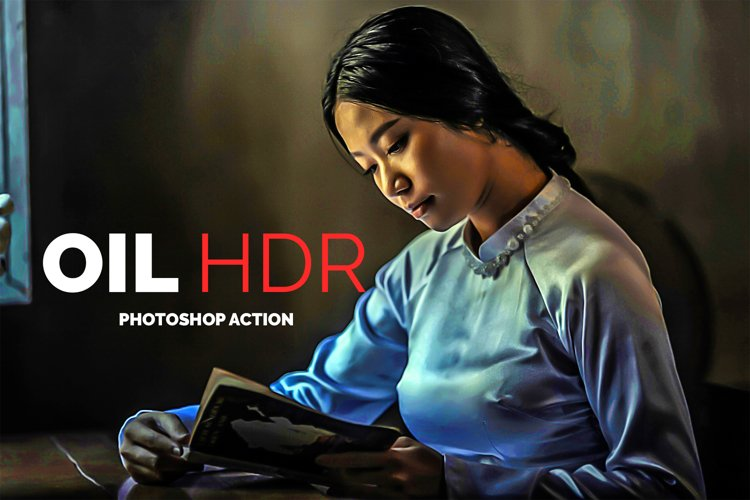 Oil HDR Photoshop Action example image 1