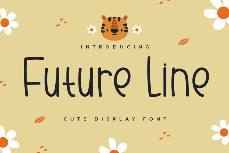 Future Line - Cute Display Font example image 1