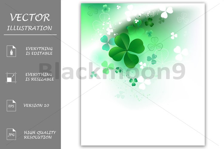 Clover on a Light Background example image 1