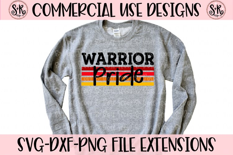 Warrior Pride SVG DXF PNG example image 1