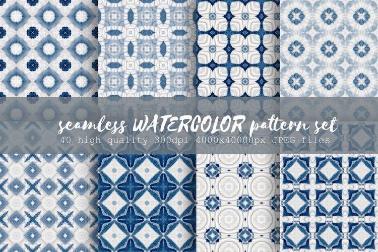 Tie dye pattern blue | Indigo Japanese shibori | 40 elements example image 1