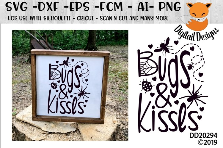 Bugs And Kisses Halloween SVG example image 1
