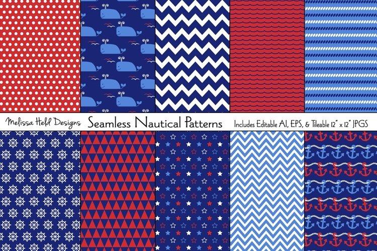 Seamless Nautical Patterns example image 1