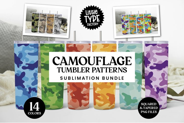 CAMOUFLAGE TUMBLER PATTERNS | Sublimation Bundle