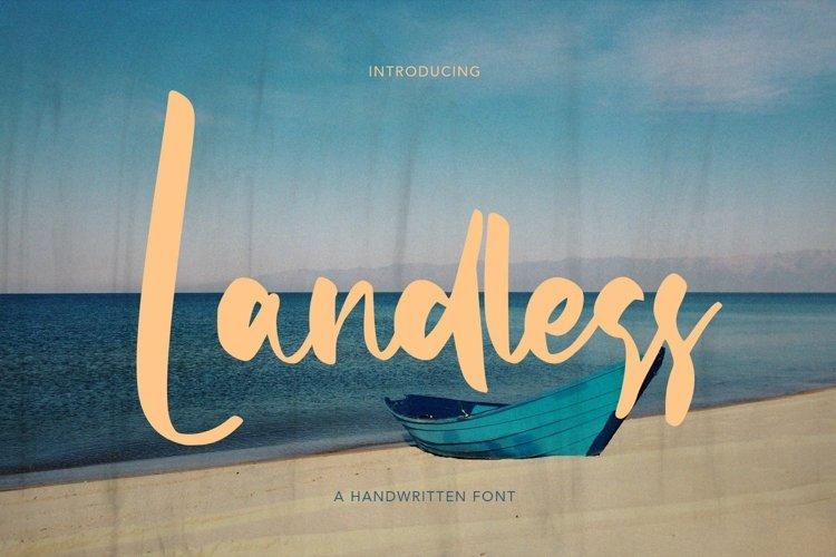 Web Font Landless - Handwritten Font example image 1