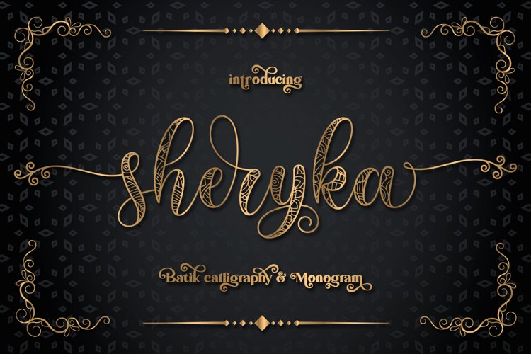 Sherika | Batik Calligraphy & Monogram example image 1