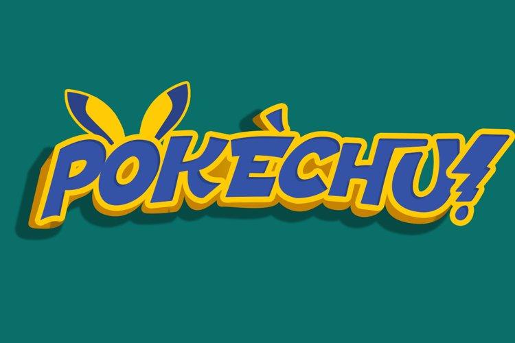 Pokechu | Comic Font