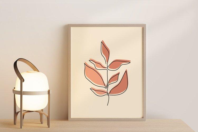 One Line Leave Wall Art, Leaf Wall Print, Minimalist Leave example image 1