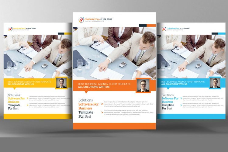 Clean & Modern Corporate Flyer Template example image 1