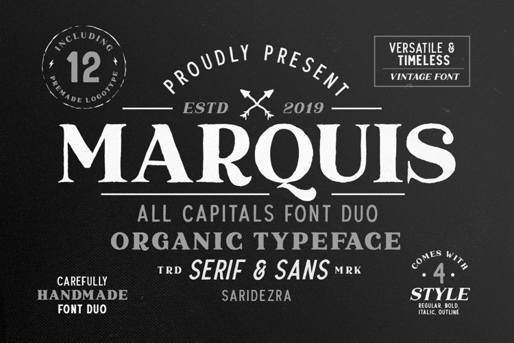 Marquis - Organic Font Duo example image 1
