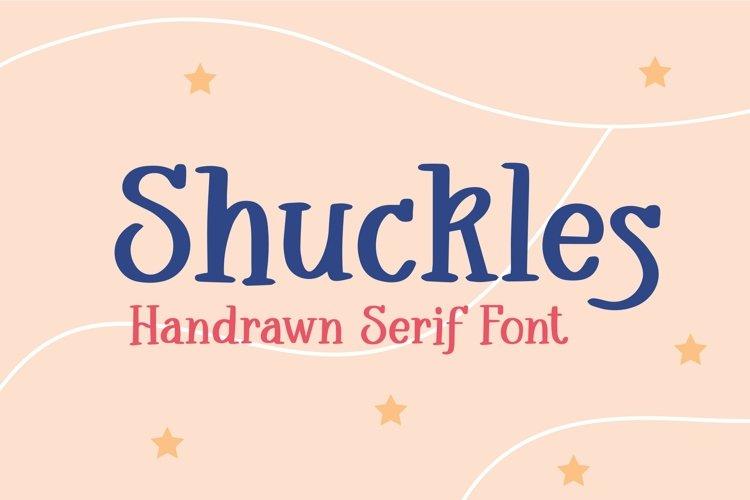Web Font Shuckles - Handrawn Serif Font example image 1