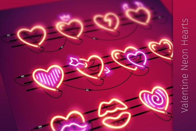 Valentine Neon Hearts