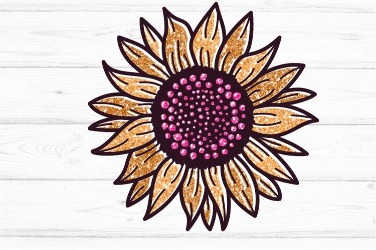 Golden Glitter Sunflowers Sublimations mini Bundle, Sunflowe example 3
