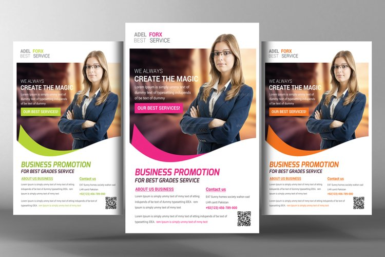 InDesign Corporate Flyer Templates example image 1