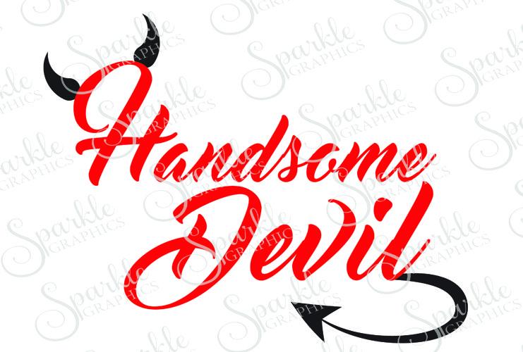Handsome Devil Cut File Set | SVG, EPS, DXF, PNG example image 1