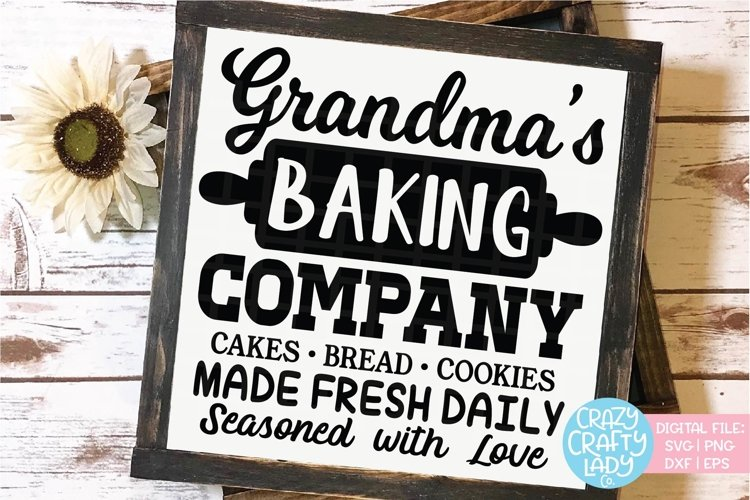 Grandma's Baking Company SVG DXF EPS PNG Cut File example image 1