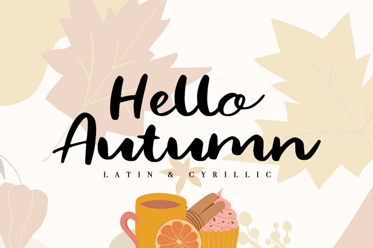 Hello Autumn / Latin & Cyrillic example image 1
