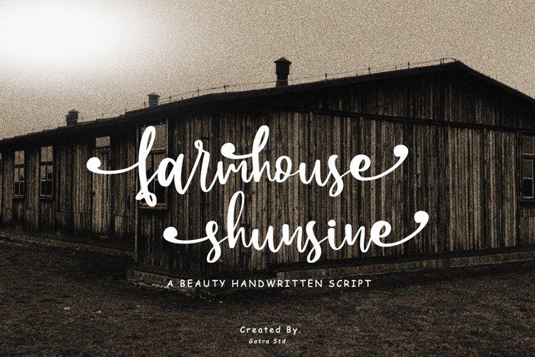 Farmhouse Shunsine a Beauty Handwritten Script example image 1
