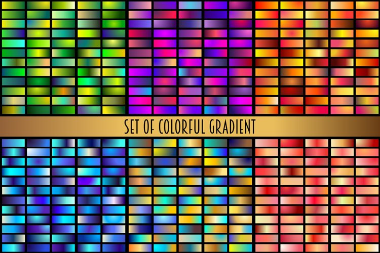 Set of colorful gradients example image 1