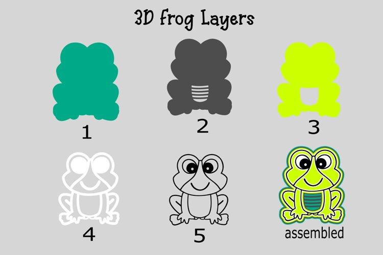 3D Layered Frog SVG Design - Free Design of The Week Design0