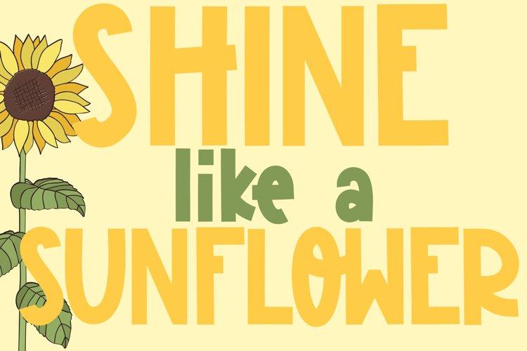 Sunflower Garden - A Cute Font example 1