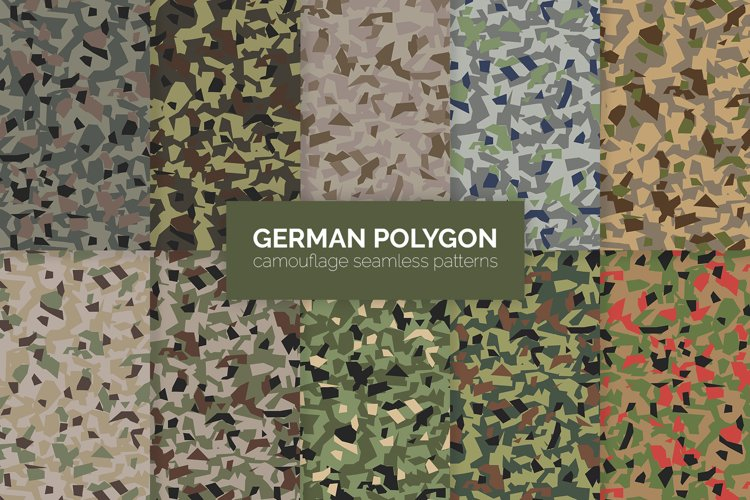 German Polygon Camouflage Patterns example image 1