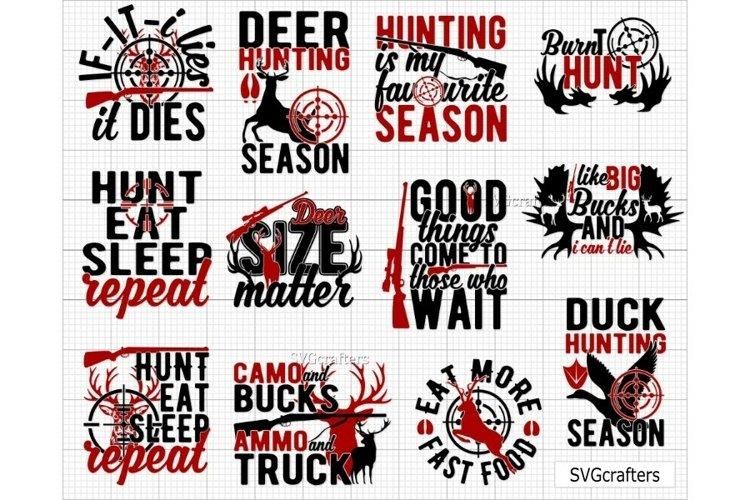 Hunter Mini Bundle V1, Deer Hunter SVG, Duck Hunter svg, example image 1
