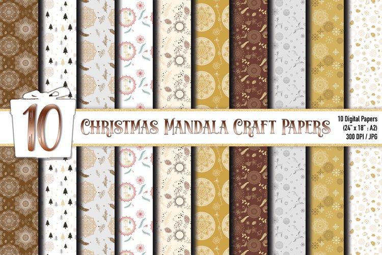 Mandala Christmas Background Digital Papers
