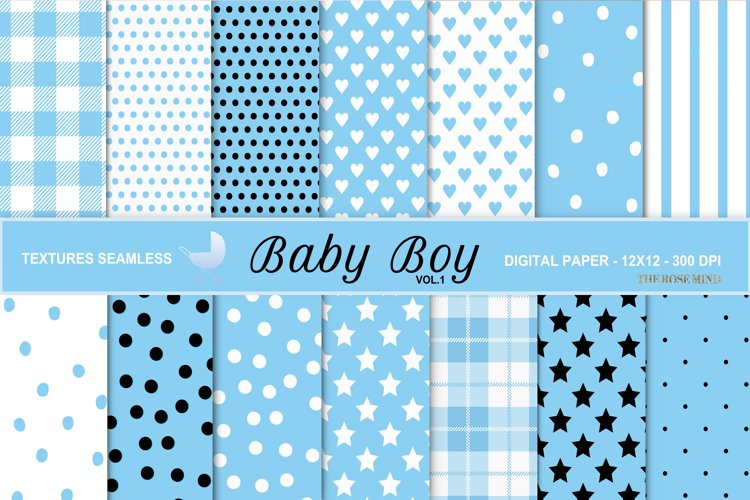 Baby boy, seamless texture, vol. 1