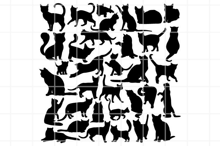 Cat SVG. Cat cut file. Cat clipart. Pet SVG. Pet cutting set