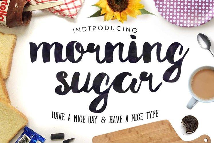 Morning Sugar Typeface + Extra ! example image 1