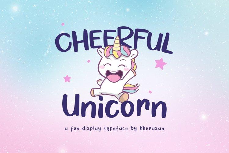 Cheerful Unicorn example image 1