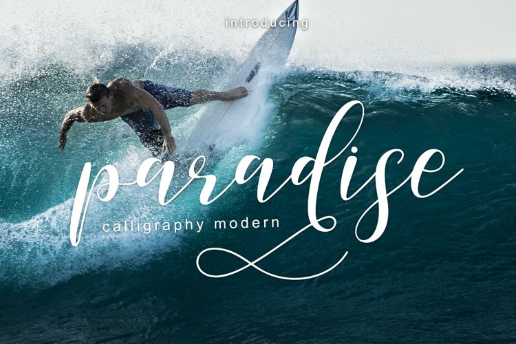 paradise calligraphy modern example image 1
