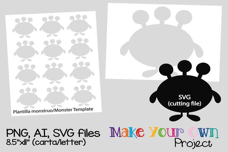 Monster SVG shape example image 1