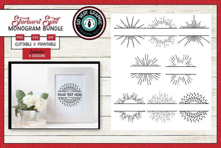 Split Starburst Set | 8 Cutting Files | Printable SVG PNG