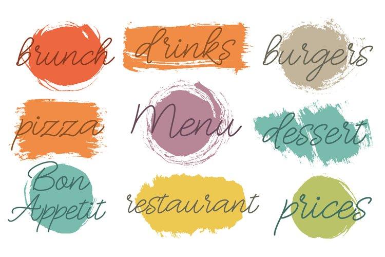Text menu design