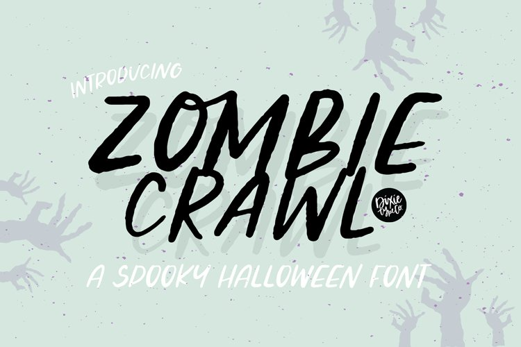 ZOMBIE CRAWL a Distressed Halloween Font example image 1